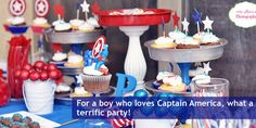 Captain America Party I styled is featured on Catch my Party!