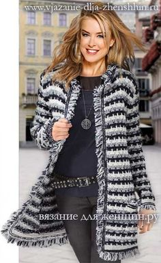 knitting coats for womenPoncho from CCC - poncho with moss stitch with a pocket on front. Poncho Pattern: Chain the chains with a slip SC, increase on everyThis Pin was discovered by ВирKnit Womens Vest Models Knit Baby Vest Samples # Tigis of Sou