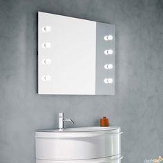 Specchiera da bagno con lampadine integrate Norway - ARREDACLICK