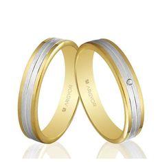 Alianzas de boda Oro 1ª Ley 18Kts. bicolor 4mm Argyor ref. 5240406 18K
