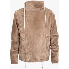 Balmain Suede jacket ($5,820) ❤ liked on Polyvore featuring men's fashion, men's clothing, men's outerwear and men's jackets