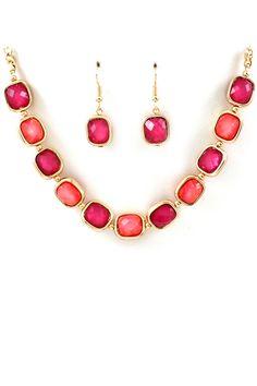 Raspberry Sadie Necklace <3