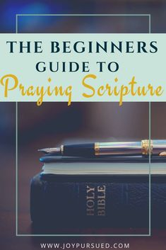 Harness the power of scripture in your prayers with this beginners guide to praying scripture. You'll learn what you need and receive a formula to follow.