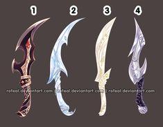 Risultati immagini per anime weapons Fantasy Sword, Fantasy Weapons, Fantasy Art, Character Art, Character Design, Anime Weapons, Swords And Daggers, Weapon Concept Art, Anime Outfits