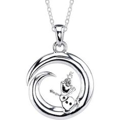 Disney Olaf Stainless Steel Pendant Necklace