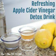 Refreshing Apple Cider Vinegar Detox Drink   He and She Eat Clean