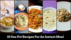 These 10 One Pot meals are not only easy and fast to cook but get a an extra feather on their hat with their nutritional value.