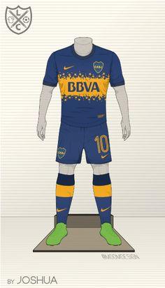 Boca Juniors Fantasy Home Kit by @moomdesign