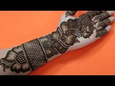 Rakhi Special | Easy Arabic Henna Design | Beautiful Front Hand Mehndi | #112 Zara Mehendi Art - YouTube