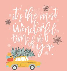 Lettering Weihnachten: It's the most wonderful time of the year fondos