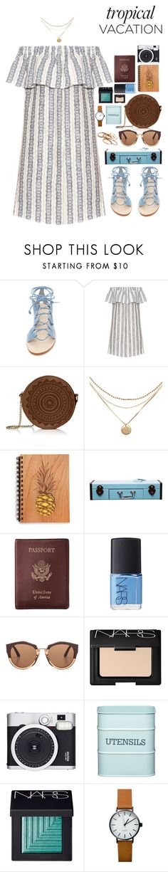 """Far Away From Here"" by ellac9914 ❤ liked on Polyvore featuring Cornetti, Sea, New York, Design 55, Royce Leather, NARS Cosmetics, Marni, Retrò, Kitchen Craft, Kendra Scott and Summer"