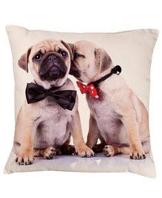 Mr & Mrs Pug Cushion http://www.designmemygift.co.uk/product/mr-mrs-pug/