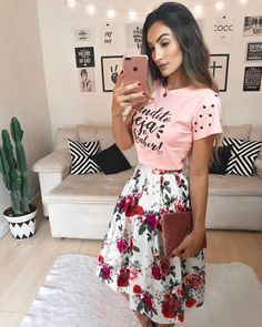 Swans Style is the top online fashion store for women. Shop sexy club dresses, jeans, shoes, bodysuits, skirts and more. Modest Outfits, Skirt Outfits, Modest Fashion, Trendy Outfits, Casual Dresses, Cute Outfits, Look Fashion, Girl Fashion, Fashion Outfits