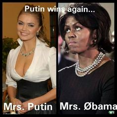 putin and obama - Google Search At least Mrs. Putin doesn't have a five o'clock shadow !!!!