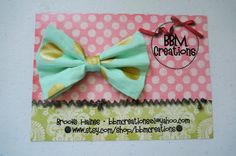 gold and mint headband bow headband headband by BBMCreations