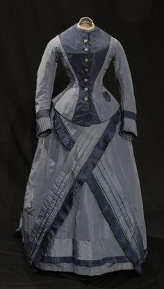 Dress, ca 1874 United Kingdom (England), the Bowes Museum