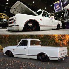 Hot Wheels - Damn how sweet is @leftcoastc10 bad ass truck, super clean no doubt! @accuair @lowfastfamous #chevrolet #gmc #c10 #airsuspension #bagged #carporn #hotrod #stance #accuair #endovt...