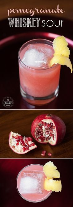 If you want a delicious cocktail that's perfect for the winter holidays, mix up an easy to make Pomegranate Whiskey Sour.