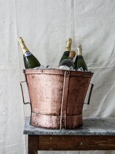 Wine Bucket Wine Bucket, Handmade Copper, Wine Country, Vintage Items, Artisan, Burgundy, Antiques, Cooking, Kitchen