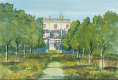 """""""Highgrove"""" painted by HRH Prince Charles, Prince of Wales."""