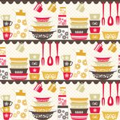 @Aleah Weltha Weltha Leonard - this is for you! PYREX LOVE by jumping_birds, click to purchase fabric