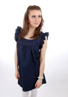 Entdecke lässige und festliche Kleider: Letztes Stück Gr. L Leony Jeans Kleid Schleife made by meko Store via DaWanda.com