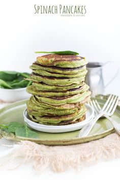 Spinach Pancakes - chocolate & carrots
