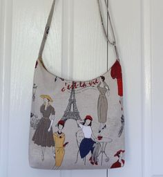 Paris C'est La Vie Cross Body Sling/Shoulder Bag - by OneBusySloth on madeit