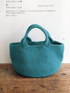 Bolsa crochê azul