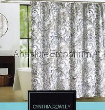 Grey And Yellow Paisley Shower Curtain | ... Rowley Maeve Gray, Beige U0026