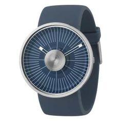 Reloj de pulsera diseñado por Michael Young, Caja de acero de diseño de color azul, Reloj con correa de silicona Azul. http://www.tutunca.es/reloj-odm-hacker-michael-young-azul