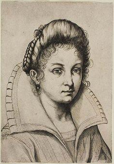 Agostino CARRACCI Italian, 1557-1602 Portrait of a Lady, n.d. Art Institute Chicago #TuscanyAgriturismoGiratola