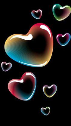 By Artist Unknown. - Wallpaper World Wallpaper World, Heart Wallpaper, Trendy Wallpaper, Love Wallpaper, Colorful Wallpaper, Galaxy Wallpaper, Cute Wallpapers, Wallpaper Backgrounds, Wallpaper Ideas