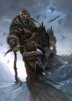 "Mance Rayder by Diegogisbert Llorens. ""'He was the best of us,' said the Halfhand, 'and the worst as well. Only fools like Thoren Smallwood despise the wildlings. They are as brave as we are, Jon. As strong, as quick, as clever. But they have no discipline. They name themselves the free folk, and each one thinks himself as good as a king and wiser than a maester. Mance was the same. He never learned how to obey.'"""