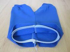 Tässä olisi yksi tapa kiinnittää vyötärökuminauha. Tämä tapa soveltuu esim. yöpukuihin ja leggingseihin, jos ei halua, että vyötärön kohda...