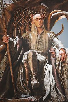 Lee Pace as Thranduil in The Hobbit: The Desolation of Smaug. King of the Woodland Realm and father of Legolas. Orlando Bloom Legolas, Legolas And Thranduil, Thranduil Funny, Lee Pace Thranduil, Desolation Of Smaug, Jrr Tolkien, Tolkien Books, Elvish, The Elf
