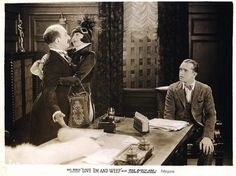 """Jimmy Finlayson, Mae Busch, and Stan Laurel in """"Love Em and Weep"""" (1927)."""