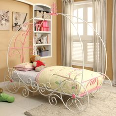 Twin Carriage Bed W Canopy . Twin Carriage Bed W Canopy . Twin Size Princess Canopy Bed with Decorative Wheels In