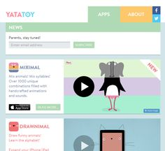 Cool Websites & Tools   Vertical Videos, iOS Apps for Kids, & Android Sensors   : Yatatoy for Parents