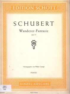 "SCHUBERT, Franz - ""Wanderer-Fantasie"" para piano"