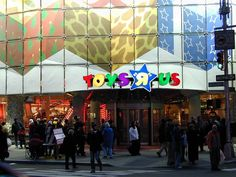 The entrance to Toys R Us Times Square store on 25 December 2001.