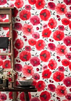 Graham & Brown « SS 2016 Catwalk Trends: Eccentric Red. Scarlet, traffic light, crimson or ketchup – whatever you call it red is the colour to be seen in and this striking shade will be adorning our homes in a big way next season.