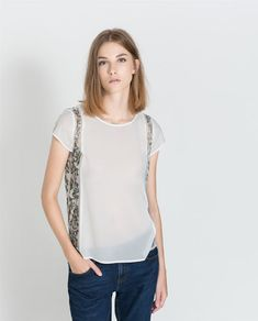 ZARA - TRF - TOP WITH EMBROIDERED SIDES
