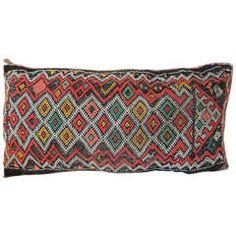 Vintage Moroccan Lumbar Pillow.