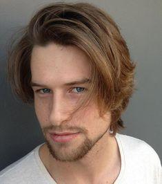 frisuren männer mittellang glatte haare seitenscheitel