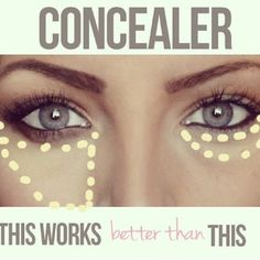 Dica para ajudar com as olheiras.. O primeiro jeito de passar o corretivo resolve mais do que passando só nas olheiras como a maioria faz!