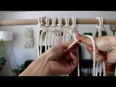 DIY Beginner Macrame Wall Hanging Project with Crafty Ginger - YouTube