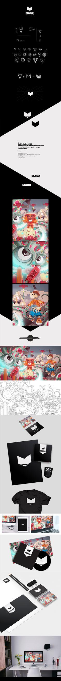 Mako Visual Arts - Brand identity #Logo #Design #Branding #Identity #Illustration