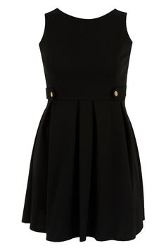 Black ponte dress with button detailing plus size 16,18,20,22,24,26,28,30,32