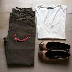 Le pantalon PAMOMILLE kaki Sud express. Look casual